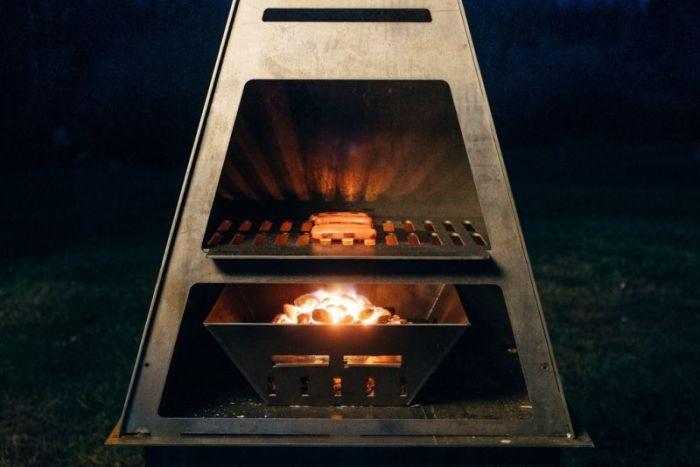 Blaze Fire Tower fireplace