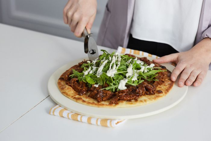 Vegan BBQ Chicken Pizza