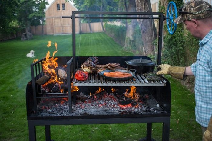 Argentine Wood-Fired Parrilla Asado Grill