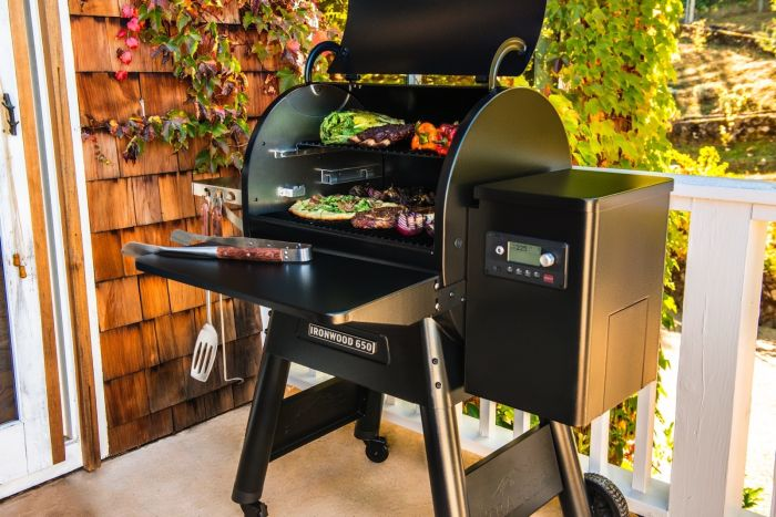 Traeger built-in WiFi grill