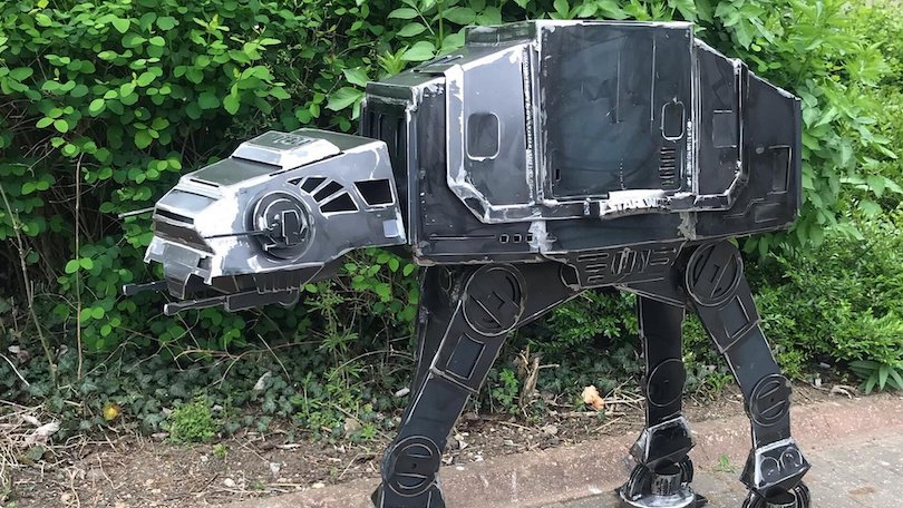 Welded Steel AT-AT Walker BBQ Grill_2