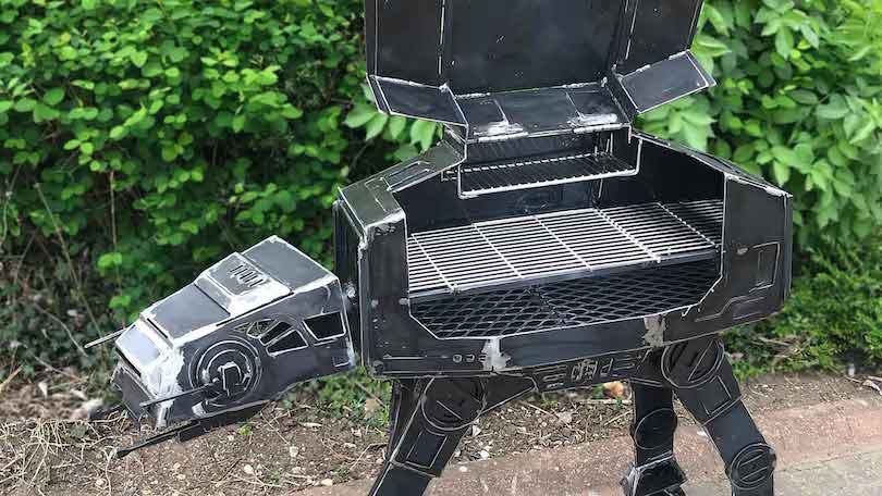 Welded Steel AT-AT Walker BBQ Grill_1
